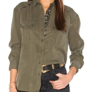 Free People Off Campus Utility Shirt Size M